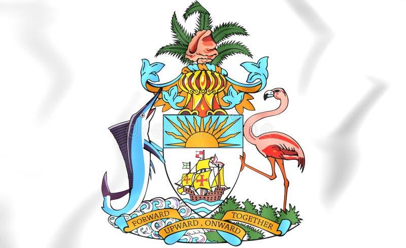 Manteau des Bahamas des bras illustration libre de droits