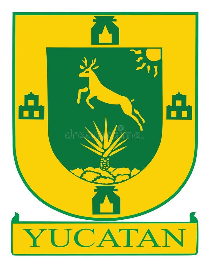 Manteau des bras de l'état mexicain de Yucatan illustration de vecteur
