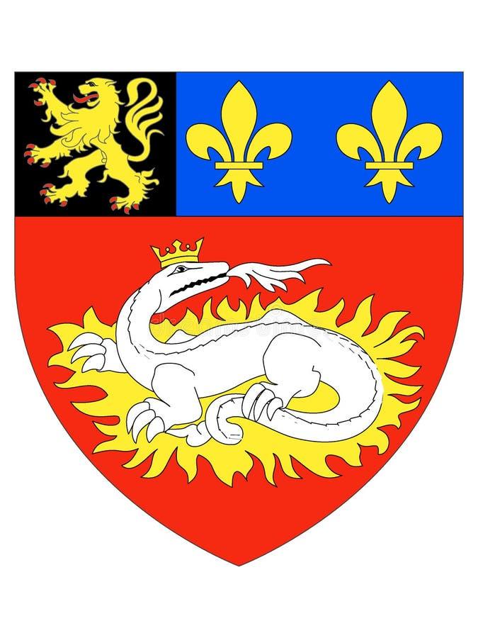 Manteau des bras de la ville française du Havre illustration stock