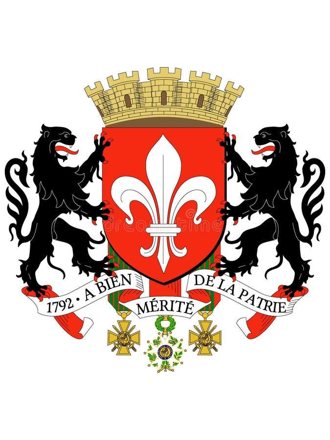 Manteau des bras de la ville française de Lille illustration libre de droits