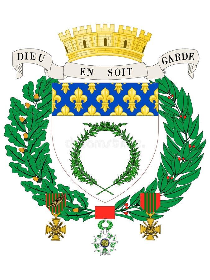Manteau des bras de la ville française de Reims illustration de vecteur