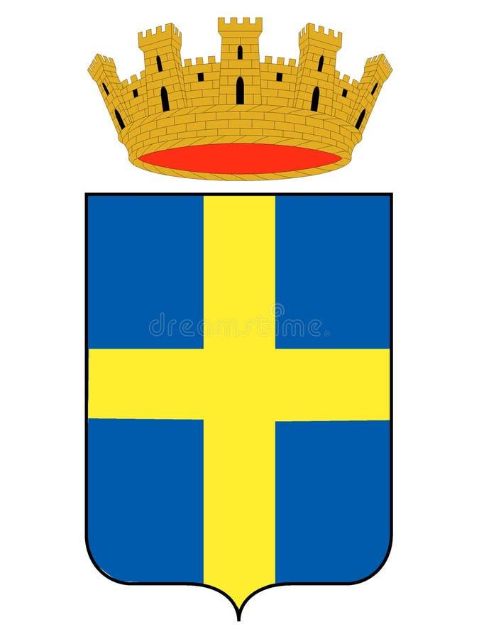 Manteau des bras de la ville italienne de Vérone illustration de vecteur