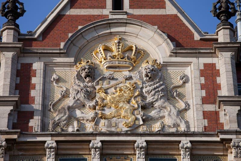 Manteau des bras des Pays-Bas photos libres de droits