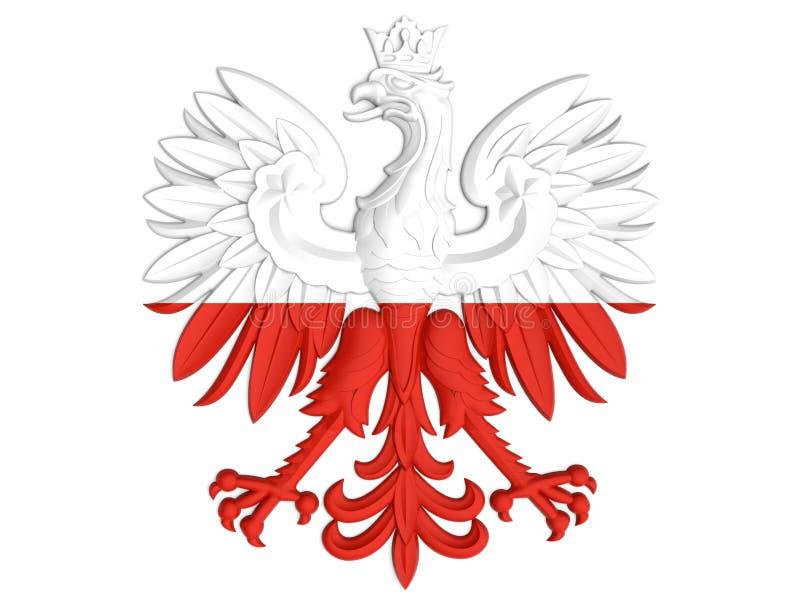 Manteau des bras polonais illustration libre de droits