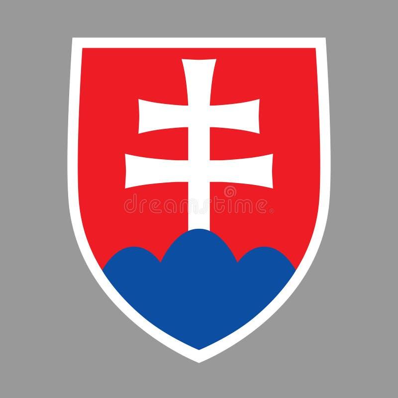 Manteau des bras Slovaquie illustration de vecteur