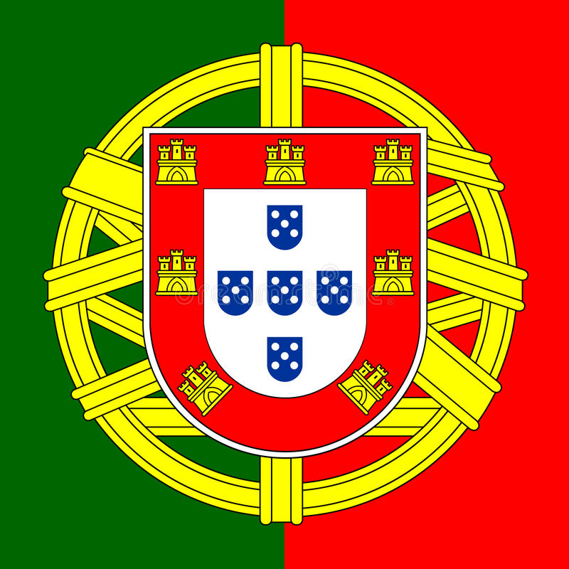 Manteau du Portugal des bras illustration stock