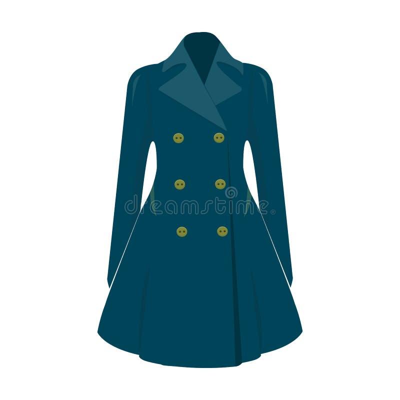 manteau retenu femelle boutonné Survêtement des femmes s La femme vêtx l'icône simple en stock de symbole de vecteur de style de  illustration de vecteur
