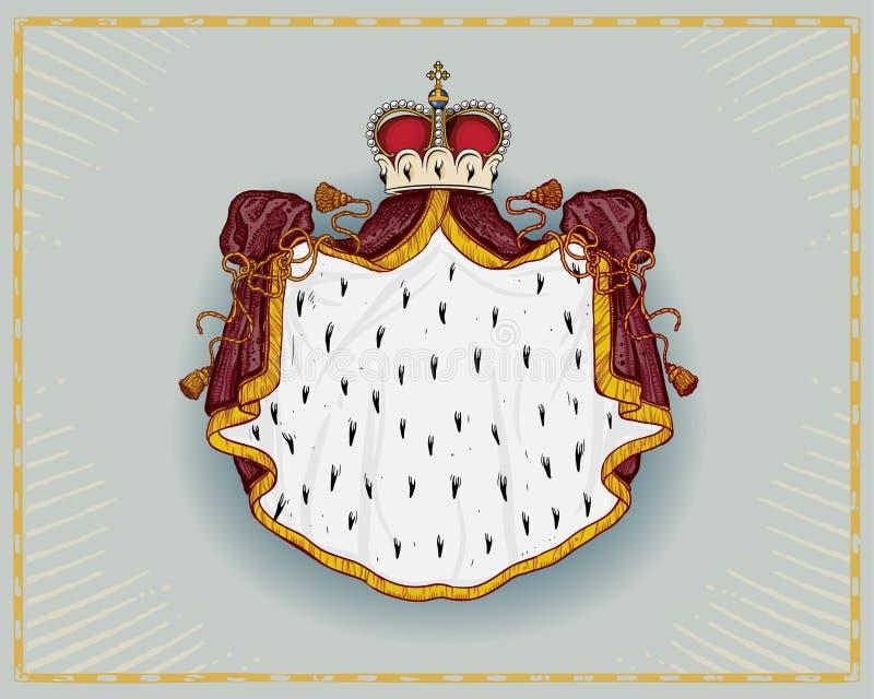 Manteau royal illustration de vecteur