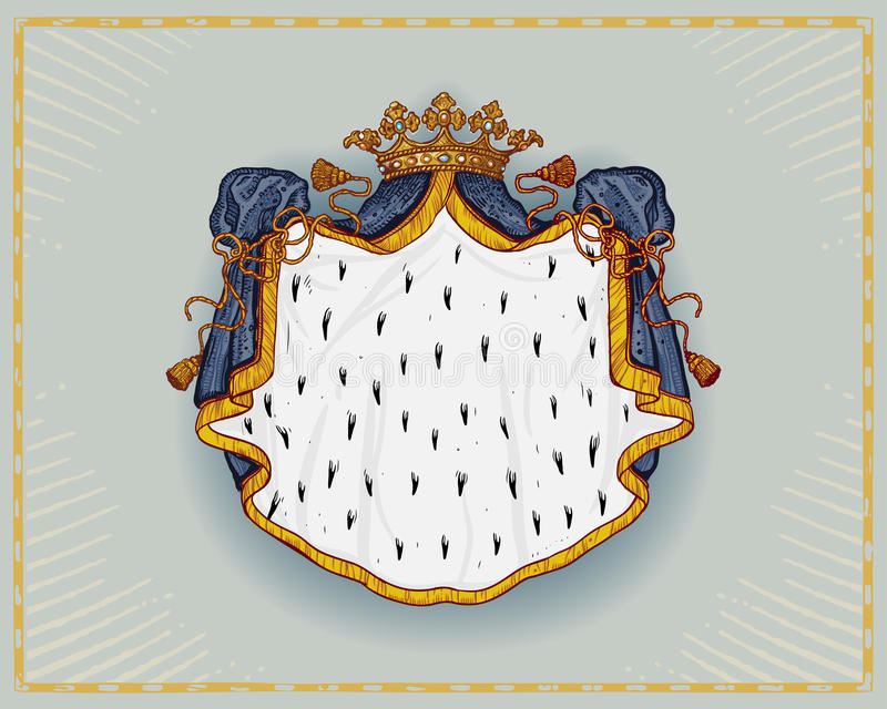 Manteau royal illustration stock