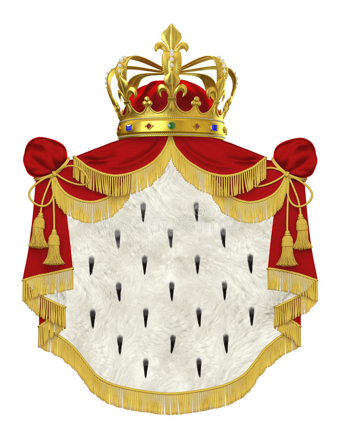 Manteau royal avec la couronne illustration libre de droits