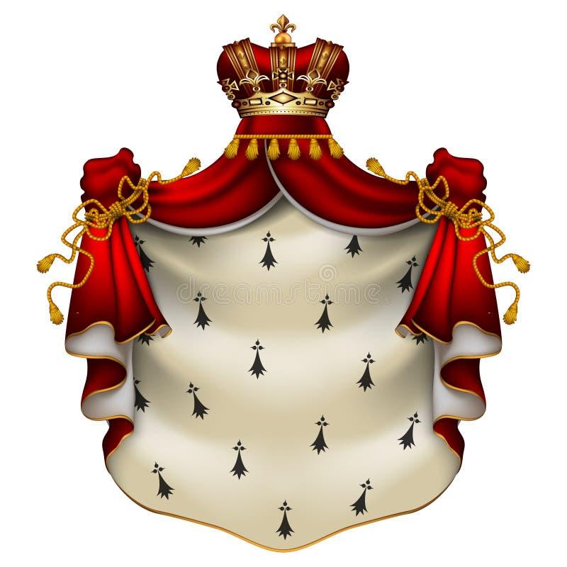 Manteau royal de hermine illustration de vecteur