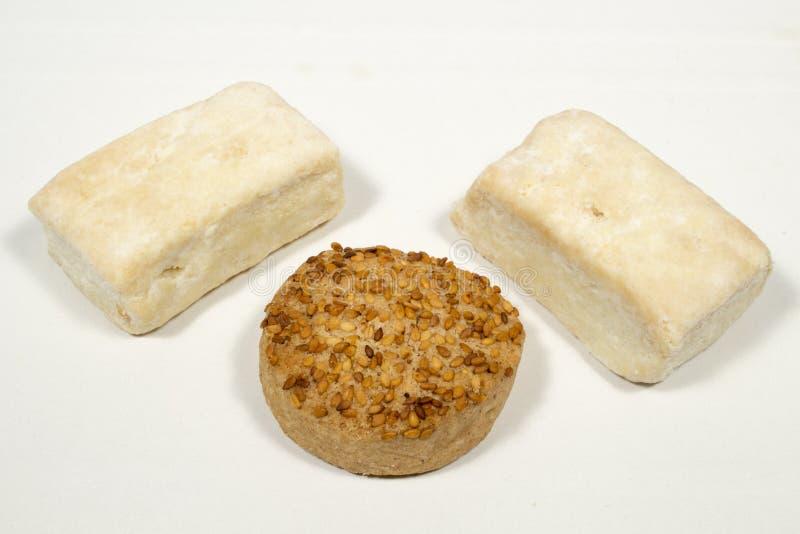 Mantecado e hojaldres, esponenti dei dolci spagnoli di Natale fotografia stock