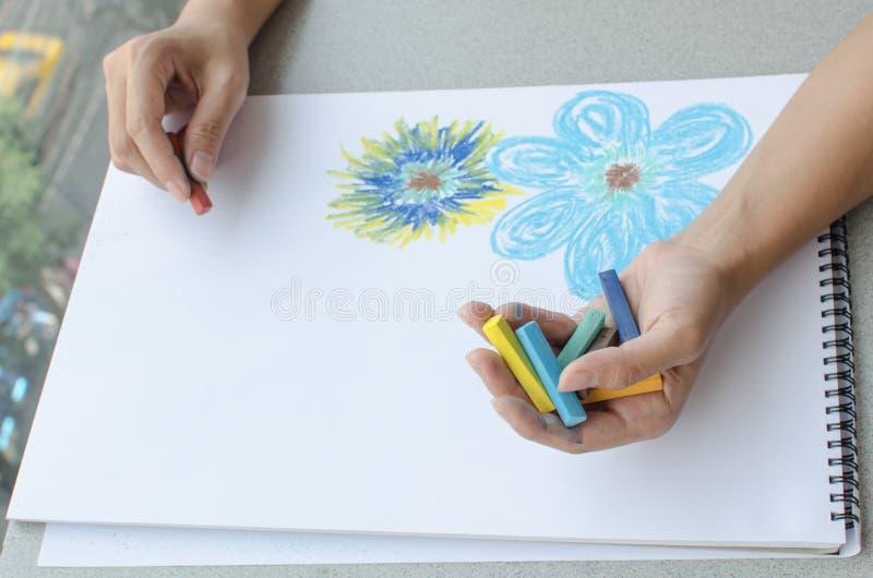 Manteckning vid pastell arkivbilder