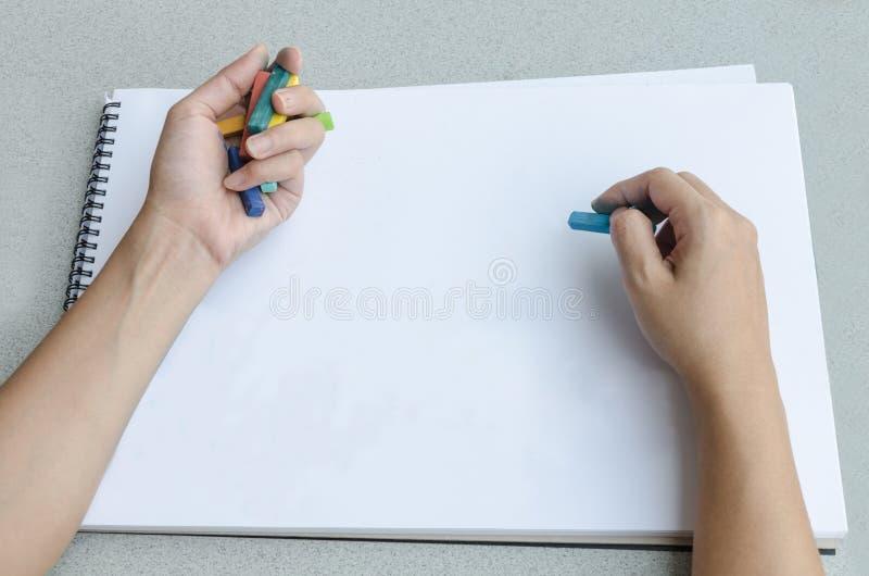 Manteckning vid pastell arkivfoton