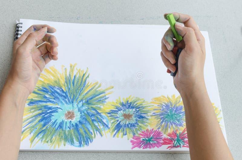 Manteckning vid pastell fotografering för bildbyråer