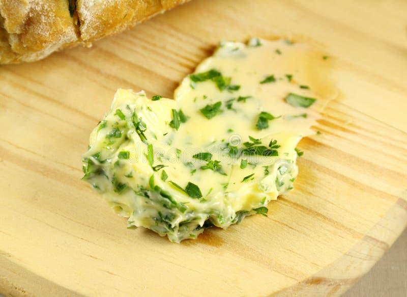 Manteiga de alho foto de stock