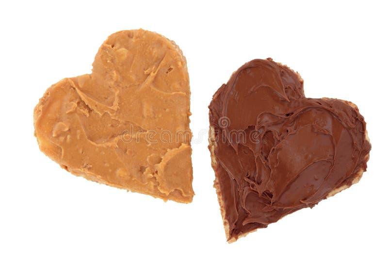 Manteiga de amendoim e petisco do chocolate fotografia de stock royalty free