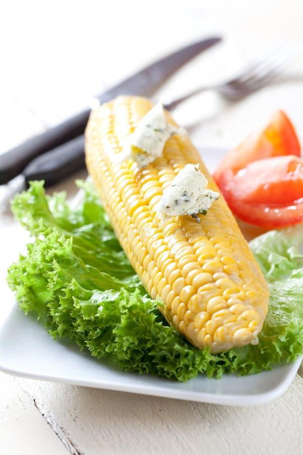 Manteiga do milho e de erva imagem de stock royalty free