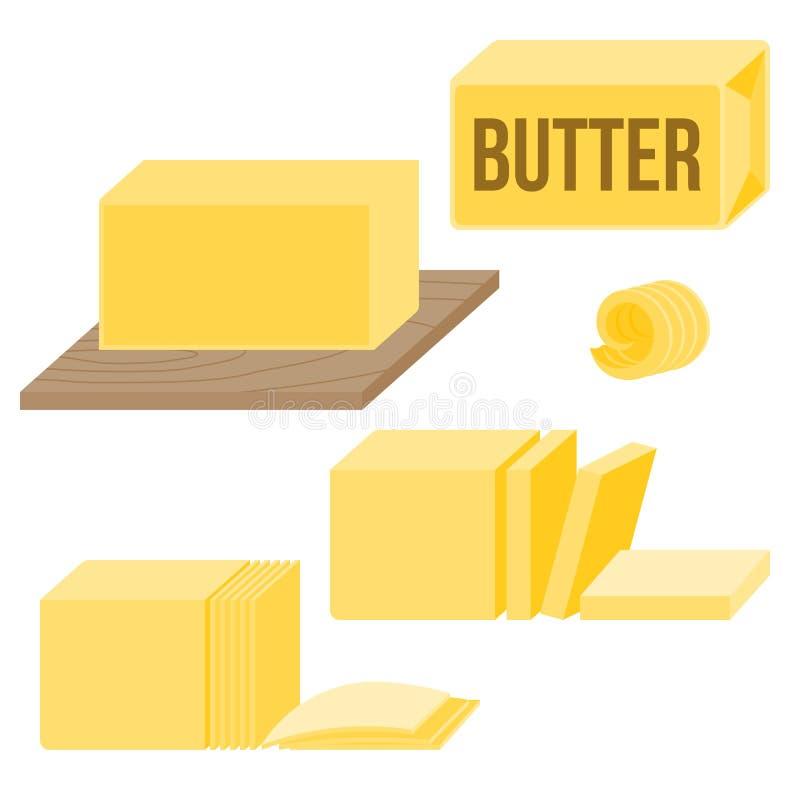 Manteiga em vários tipos ilustração royalty free