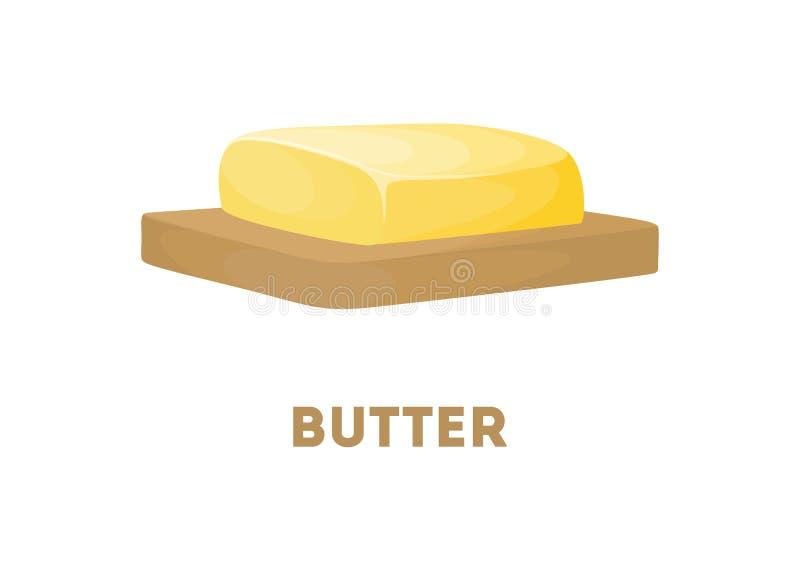 Manteiga isolada a bordo ilustração royalty free