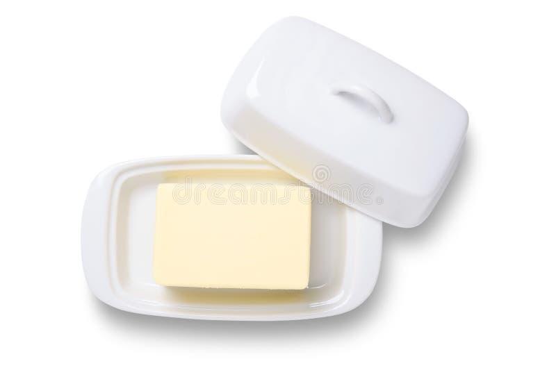 Manteiga no prato fotos de stock