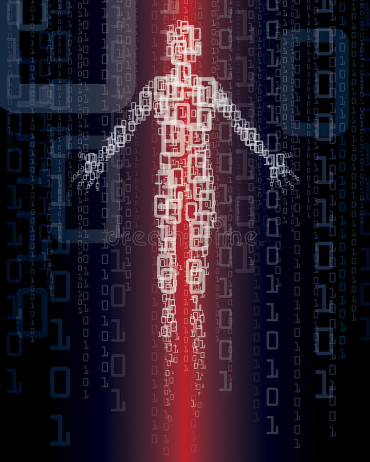 manteknologi stock illustrationer