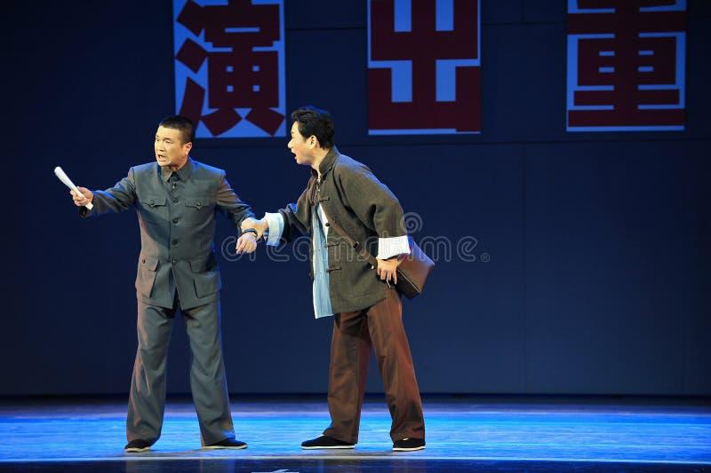 Mantel Beschweren-Jiangxis OperaBlue lizenzfreie stockfotos