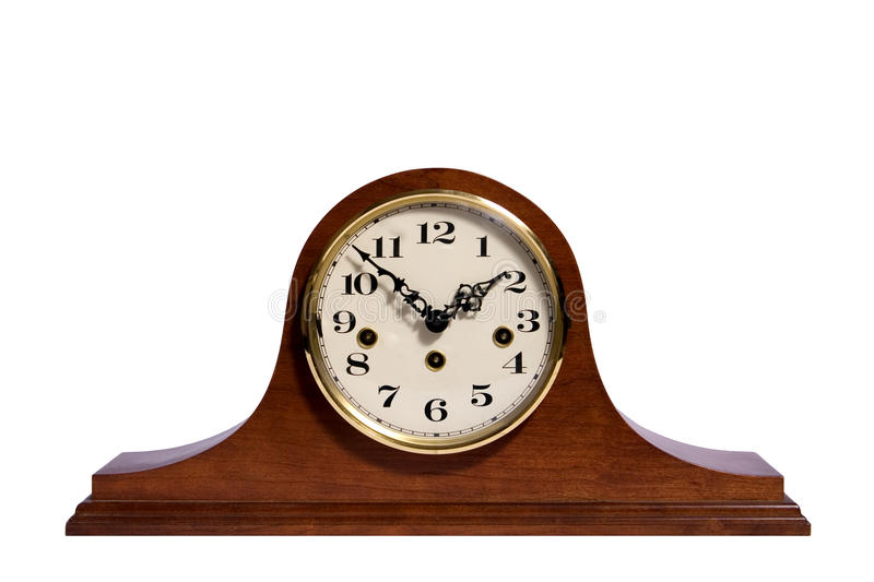 Mantel Clock. An old fashioned mantel clock royalty free stock photo