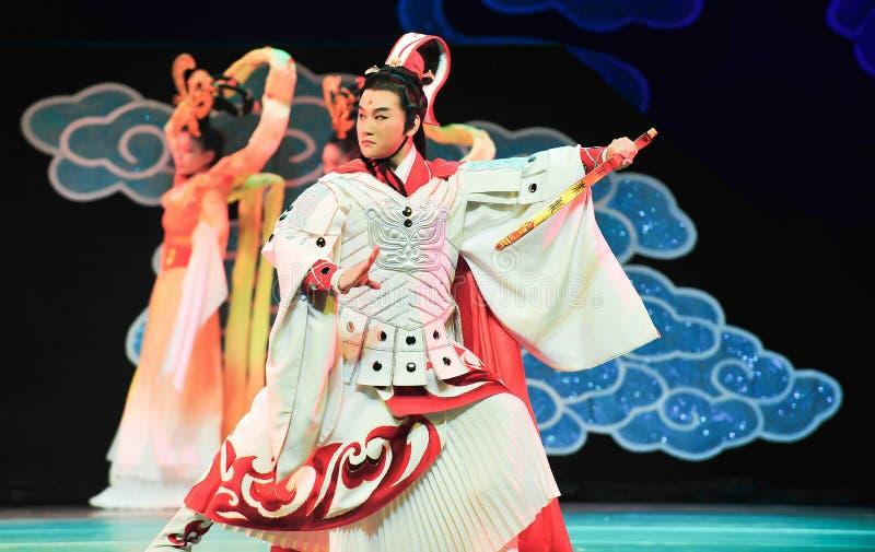 Mantel Yi-Jiangxis OperaBlue šHou ¼ ï des gutaussehenden Mannes lizenzfreie stockbilder