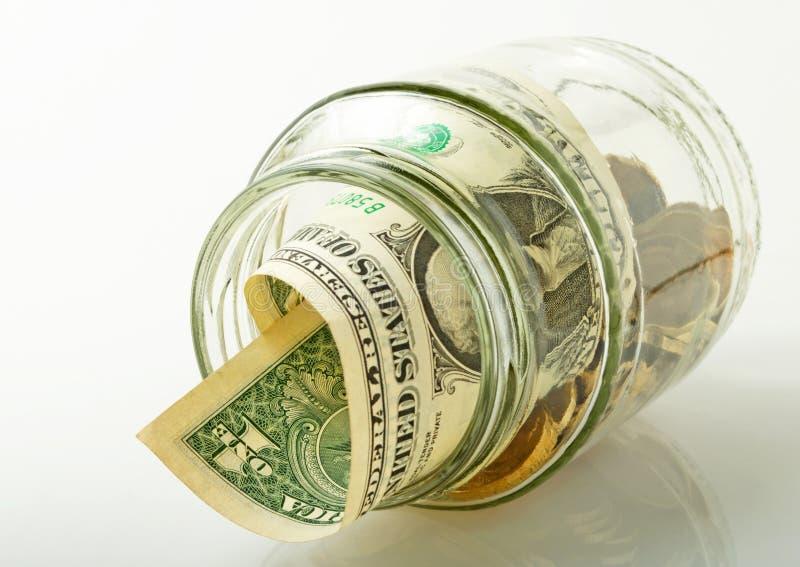 Mantendo o dinheiro. fotos de stock