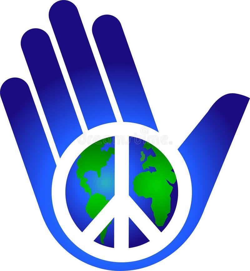 Mantendo a paz na terra/eps ilustração do vetor