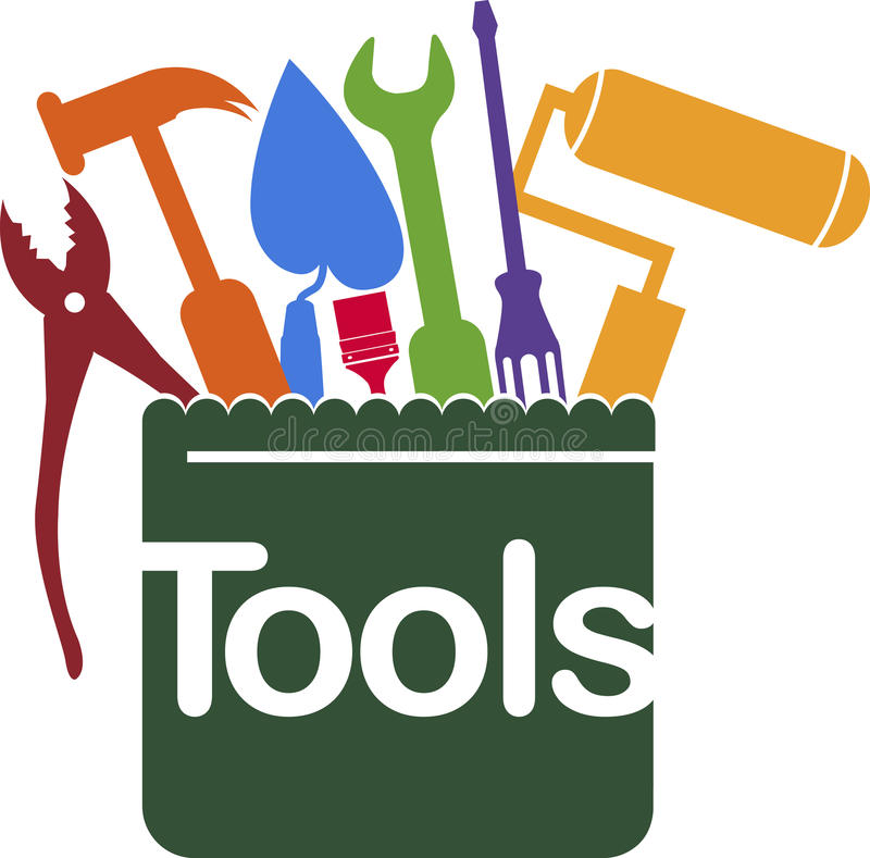 Mantenga el logotipo de las herramientas libre illustration