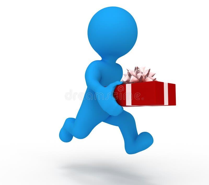 Mantenga el regalo del hombre stock de ilustración