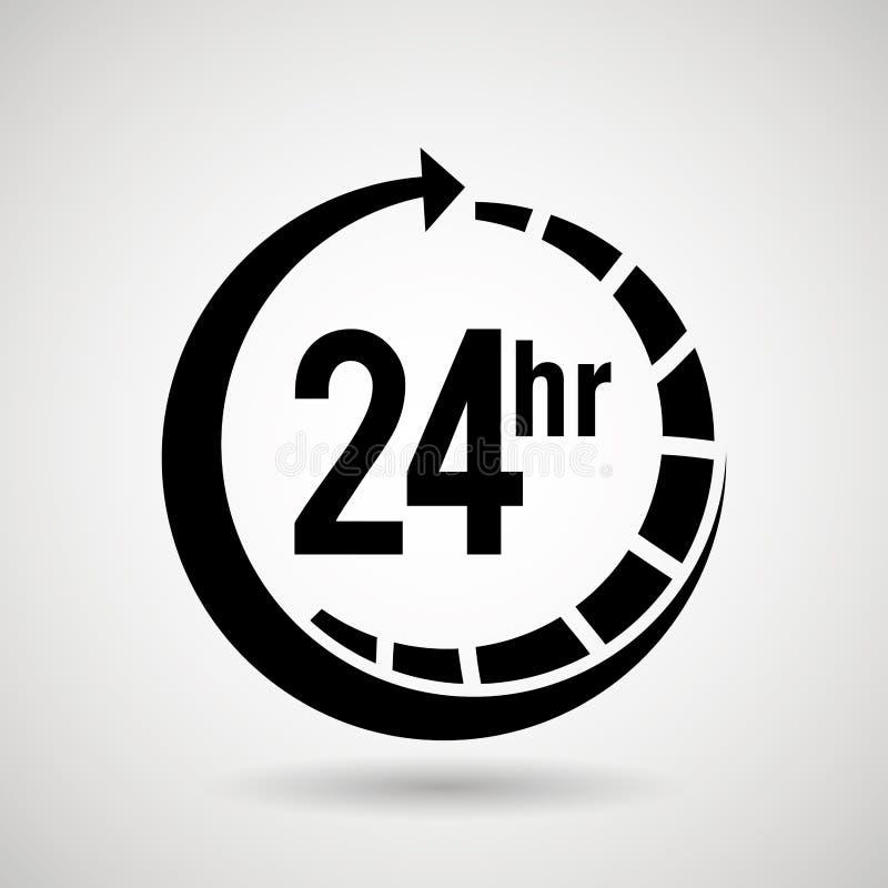 mantenga 24 horas de diseño libre illustration