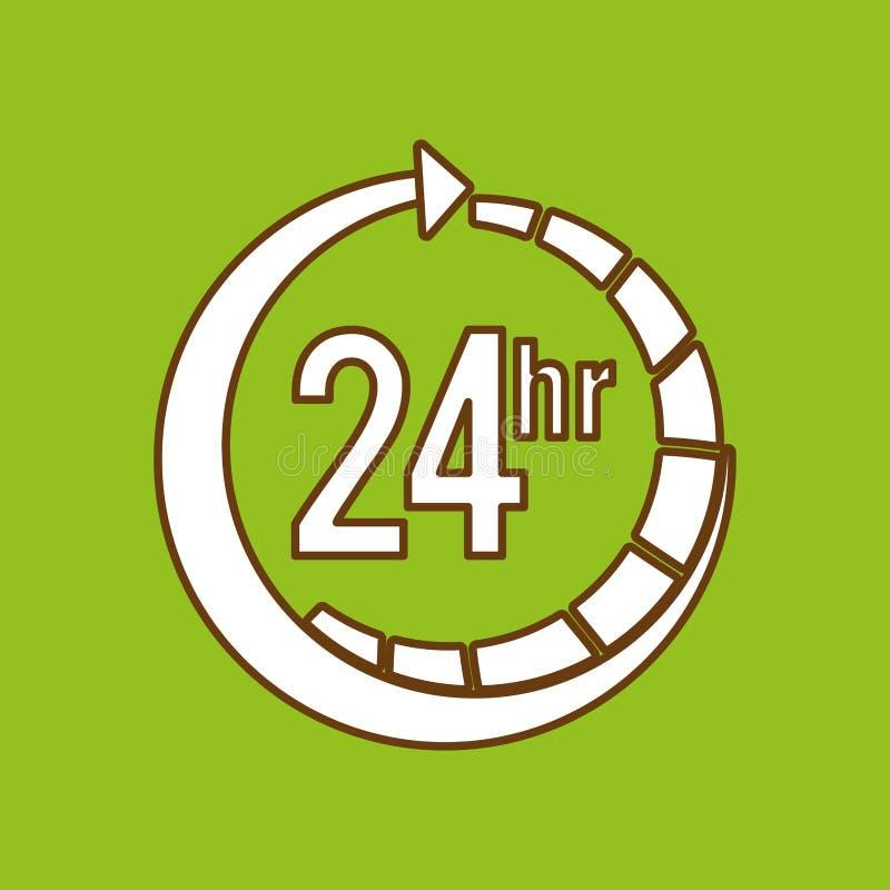 mantenga 24 horas de diseño ilustración del vector