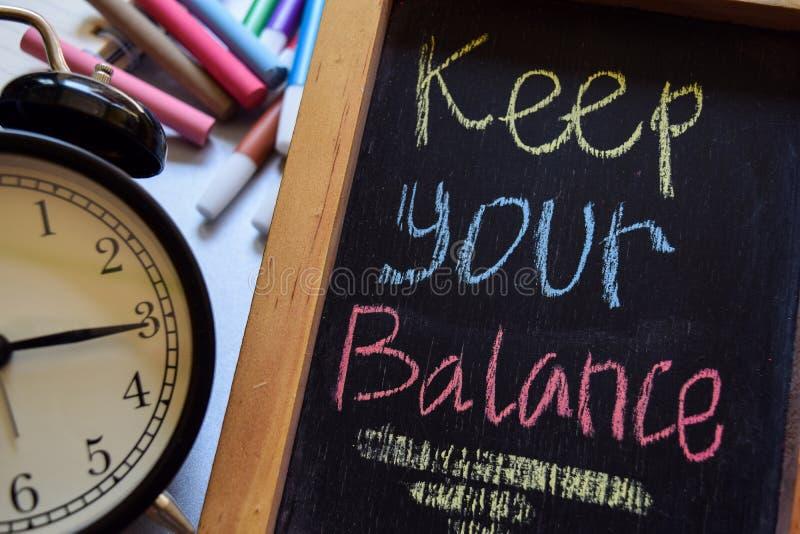 Mantenga il vostro equilibrio fotografie stock