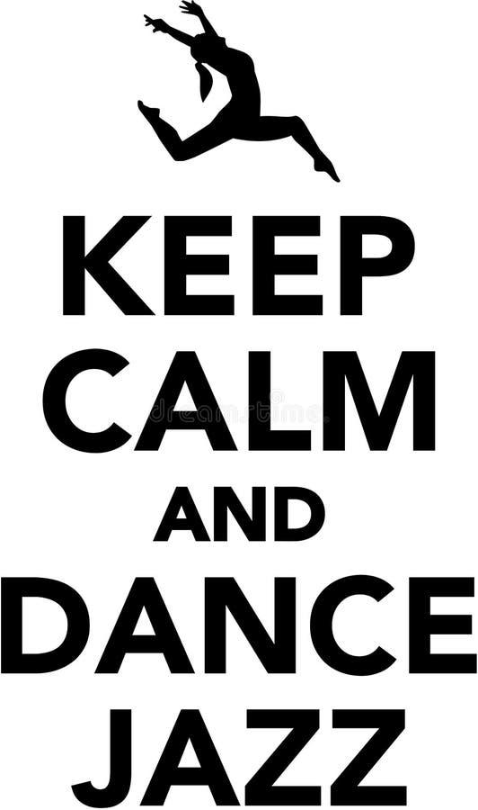 Mantenga jazz tranquilo y de la danza stock de ilustración