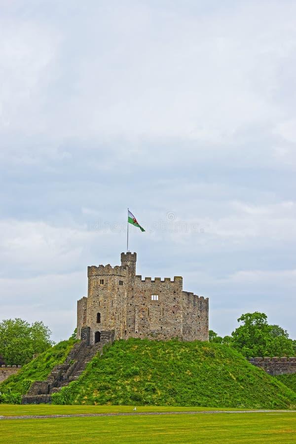 Mantenga la torre el castillo de Cardiff en Cardiff en País de Gales imagen de archivo