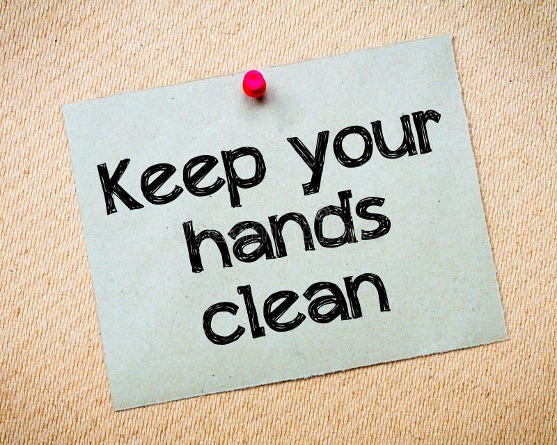 Mantenga sus manos limpias fotografía de archivo