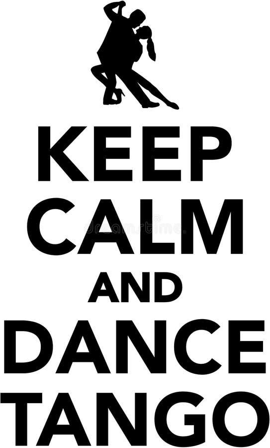 Mantenga tango tranquilo y de la danza stock de ilustración