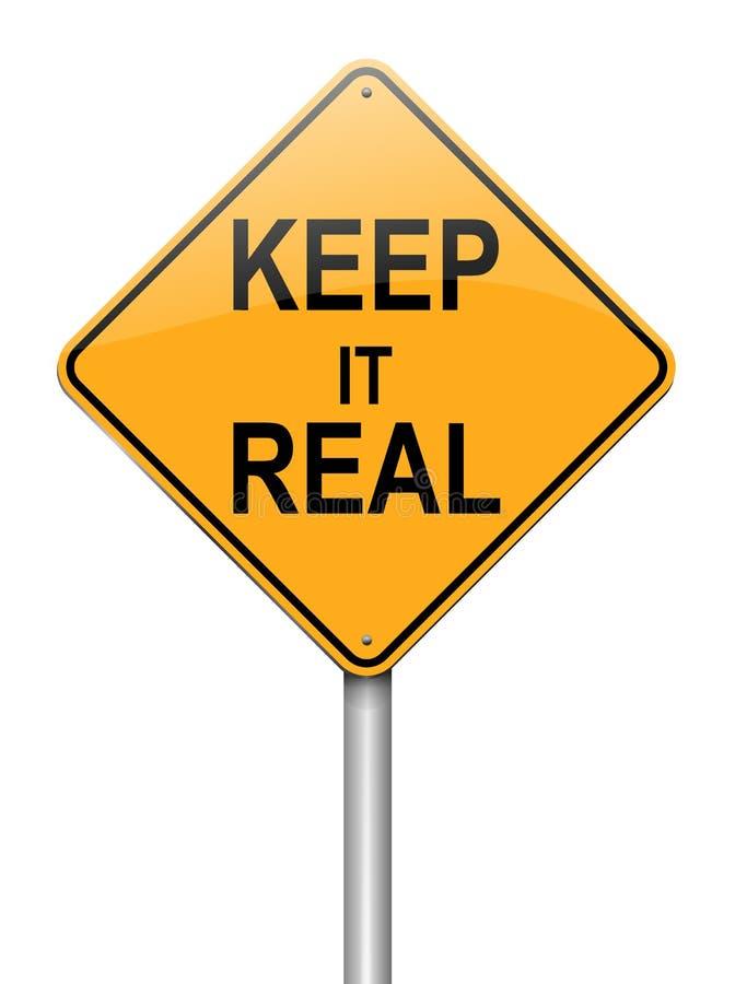Mantengalo concetto reale. illustrazione di stock