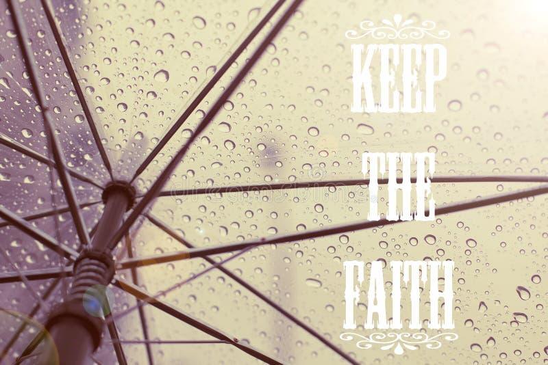 Mantenha as citações da fé fotografia de stock