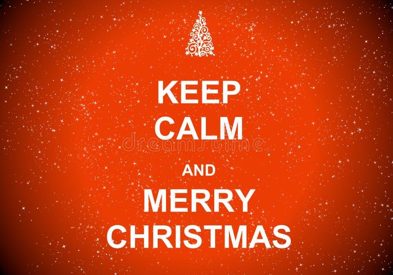 Mantenha a calma e o Feliz Natal fotos de stock