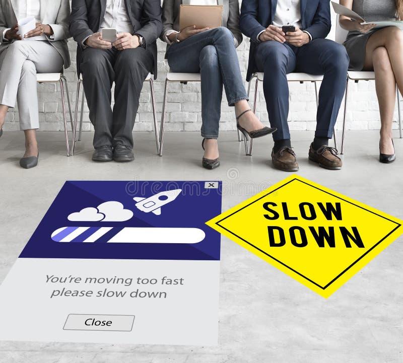 Mantenha a calma para reduzir a velocidade relaxam o conceito do Slow Down imagem de stock royalty free