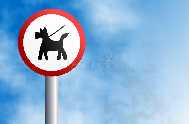 Mantenha o cão na ligação ilustração royalty free