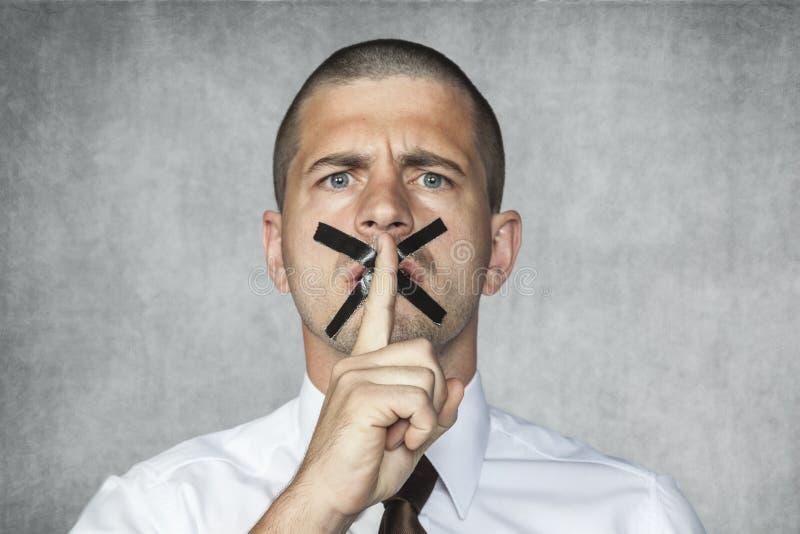 Mantenha por favor o silêncio imagens de stock royalty free