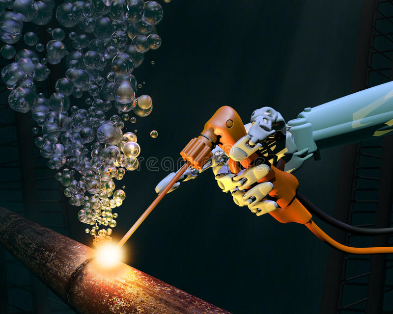Mantenimiento del mar profundo stock de ilustración