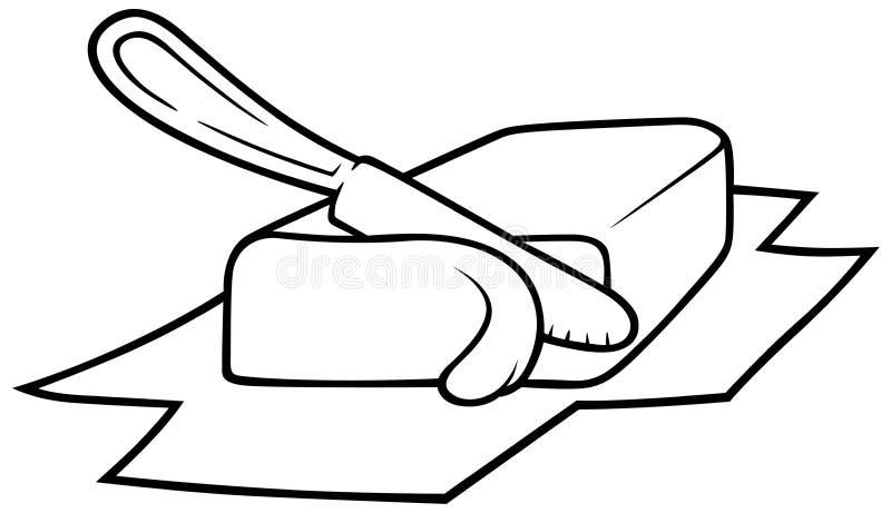 Mantequilla stock de ilustración