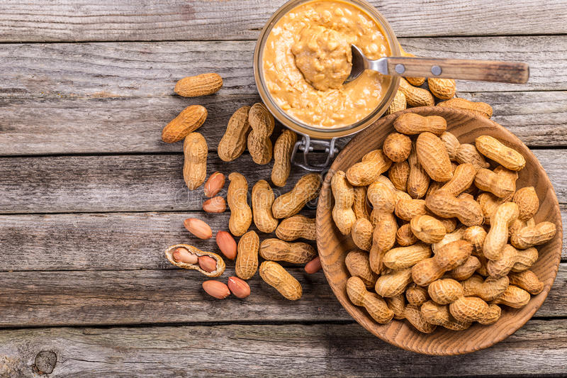 Mantequilla de cacahuete imagen de archivo