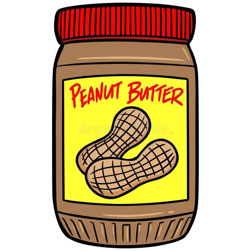 Mantequilla de cacahuete ilustración del vector